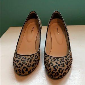 Leopard print wedges